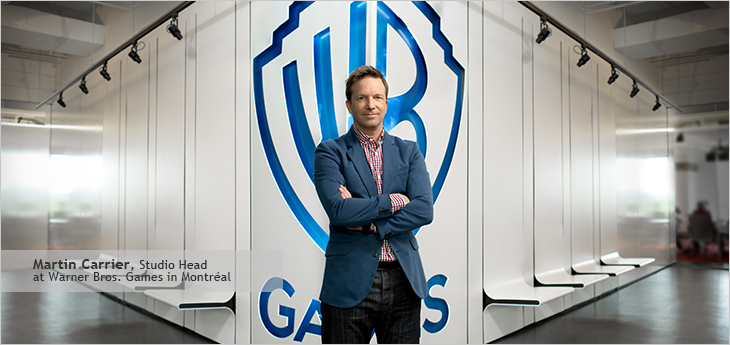 Photo of Martin Carrier, Studio Head at Warner Bros. Games in Montréal