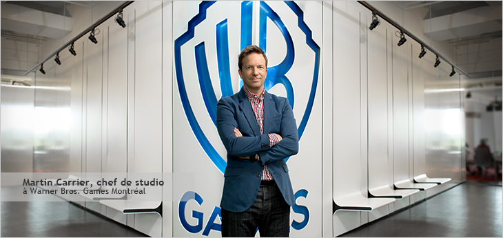 Photo de Martin Carrier, Chef de studio, Warner Bros. Games Montréal