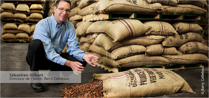 Photo de Sébastien Gilbert, Directeur de l'usine, Barry Callebaut
