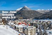 Ville de Davos et texte indiquant