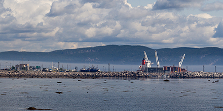 Photo du port de Baie-Comeau