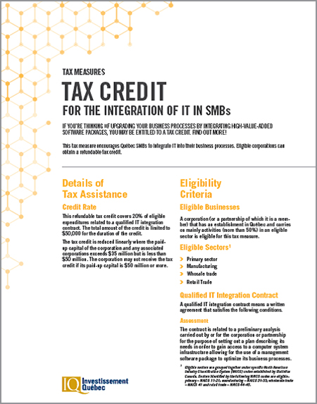 PDF document Tax Credit for the Integration of IT in SMBs