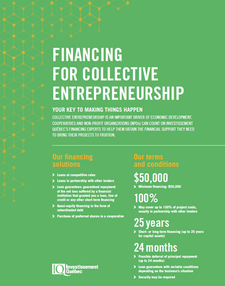 Cover of the document Financing for collective entrepreneurship