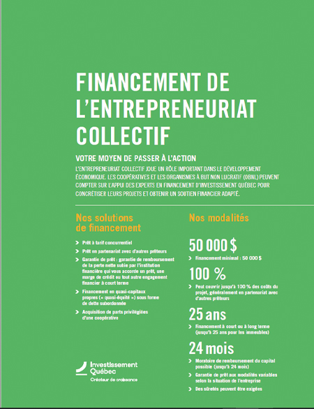 Illustration de la couverture du document Financement de l'entrepreneuriat collectif