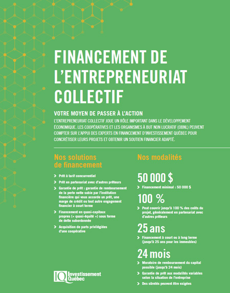 Illustration de la couverture de la publication Financement de l'entrepreneuriat collectif