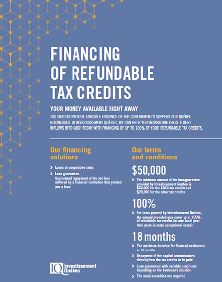 Cover of the Financing of Refundable Tax Credits document