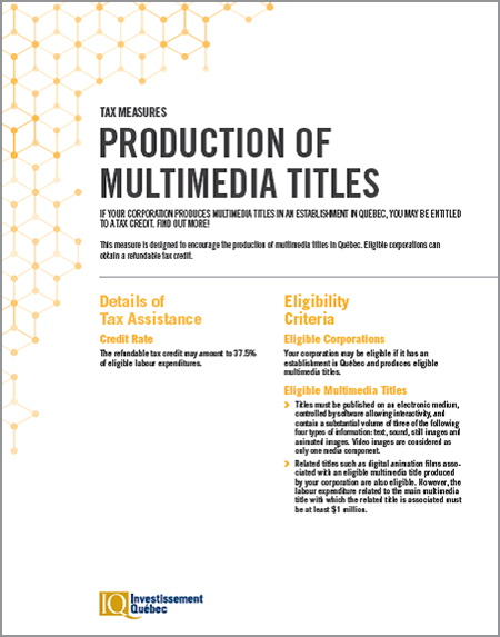 PDF document Production of Multimedias Titles