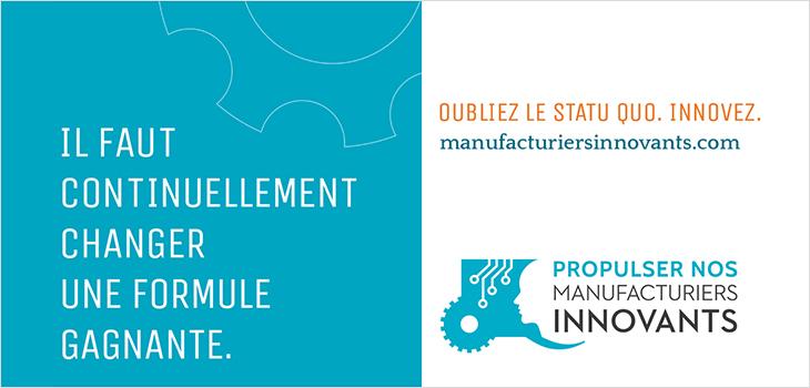 Publicité manufacturiers innovants