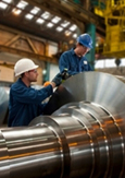 Photo of two engineers working in a plant