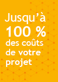 Image indiquant Jusqu'à 100 % des coûts de votre projet
