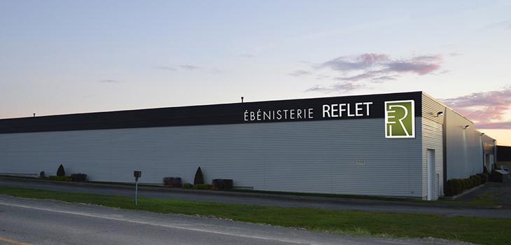 Photo de l'usine de l'Ébénisterie Reflet
