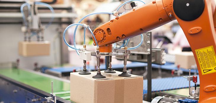 Photo d'un bras robotisé pour l'emballage
