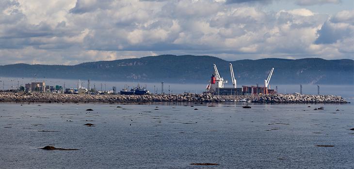 Photo du port de Baie-Comeau