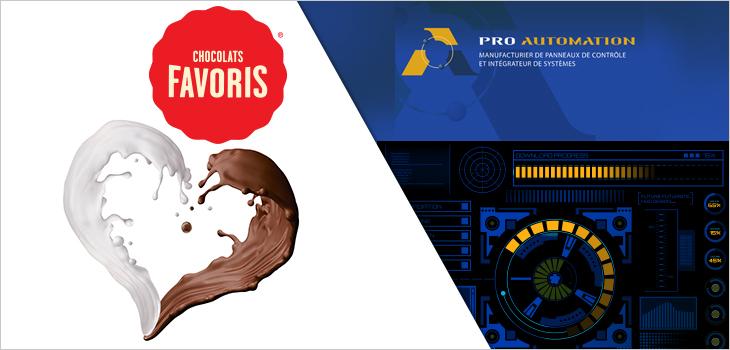 Image représentant les logos de Chocolats favoris et de Pro-Automation