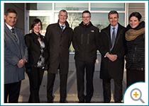 Photo de l'équipe d'Investissement Québec chez Opsens