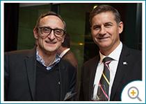 Photo de Bernard Têtu, président de Dimonoff, et Luc Régnier, directeur régional Nord-Est du Québec (IQ).