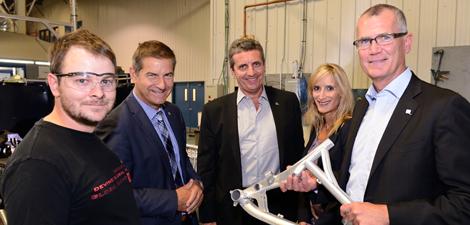 Visite de l'entreprise Cycles Devinci, avec Pierre Gabriel Côté, PDG d'Investissement Québec