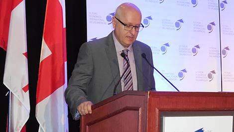 Photo de Denis Williams, directeur général de Ressources Québec, à la Conférence de Montréal 2015