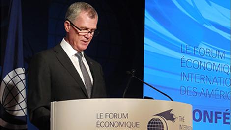 Photo de Pierre Gabriel Côté, PDG d'Investissement Québec, à la Conférence de Montréal 2015