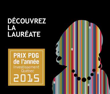 Illustration Découvrez la lauréate du Prix PDG de l'année Investissement Québec 2015