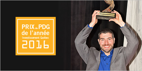 David Hervieux, lauréat du Prix PDG de l'année Investissement Québec 2016