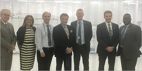 Photo de la visite de l'entreprise lavalloise MEP Technologies