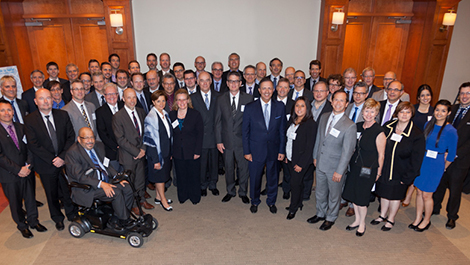 Photo of the participants at the Foreign Business Leaders Forum