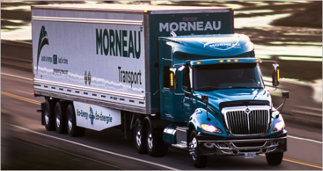 Camion du Groupe Morneau