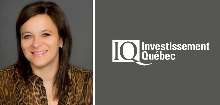 Photo de Marie Zakaïb et logo d'Investissement Québec