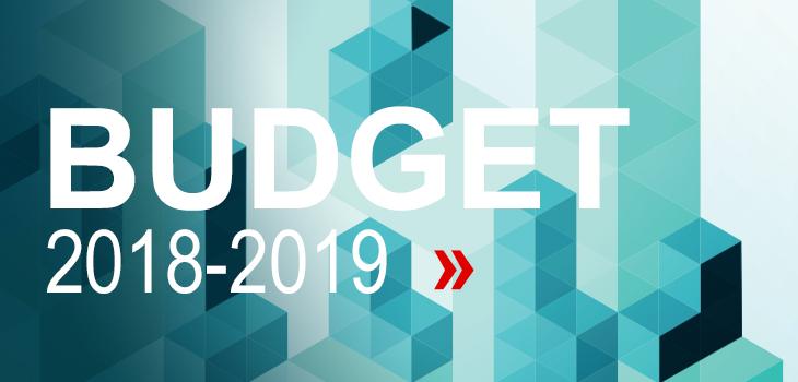 Illustration indiquant « Budget 2018-2019. Voyez tous les détails »