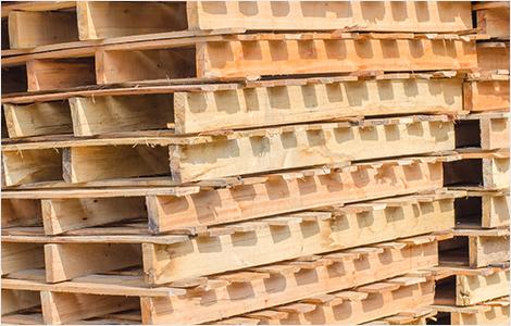Photo de palettes de bois