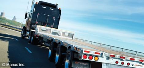 Photo d'un camion remorque de l'entreprise Manac
