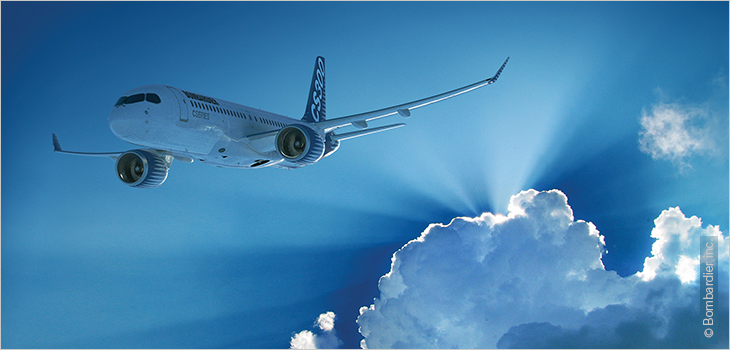 Photo d'un avion CS300, courtoisie de Bombardier