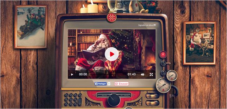 Image d'un Père Noël dans un téléviseur