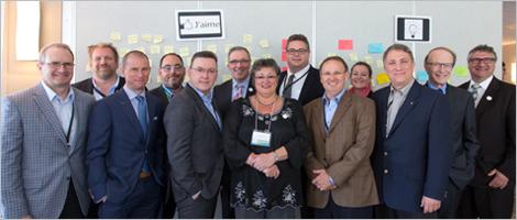Photo du Comité de pilotage du panel économique de Rivière-du-Loup.