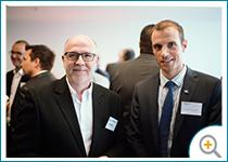 Photo d'Alain Pelletier, directeur administratif de X Métal, et Yves Lévesque, directeur de portefeuille d'Investissement Québec