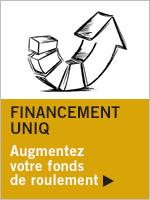 Illustration Financement UNIQ. Augmentez votre fonds de roulement
