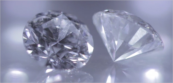 Photo of diamonds from the Renard mine