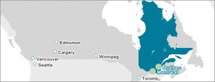 Québec and Canada in North America