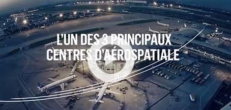 Capture d'écran d'une vidéo promotionnelle du secteur aérospatial québécois