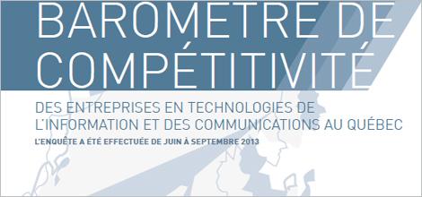 Image indiquant Baromètre de compétitivité - Des entreprises en technologies de l'information et des communications au Québec