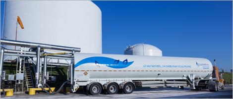 Image d'un camion de Gaz Métro