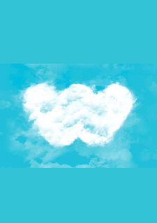 Image of a cloud in the shape of the Webhelp logo in a turquoise sky