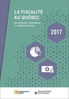 Illustration avec texte indiquant « La fiscalité au Québec - Des mesures favorables à l'investissement »