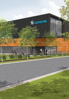 Illustration représentant la future usine de Soprema à Sherbrooke