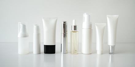 Photo of beauty products in various containers