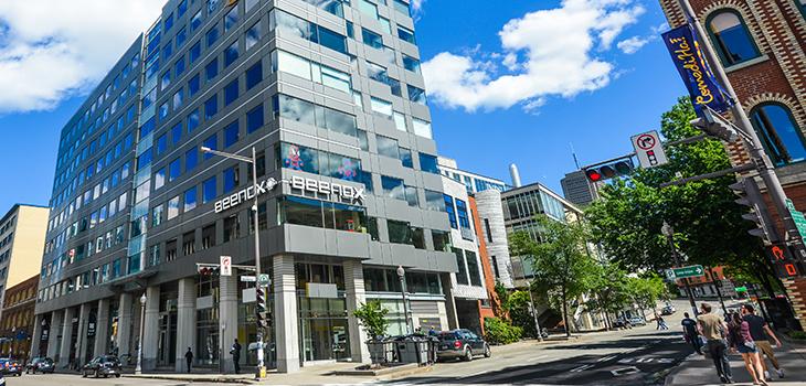 Photo du bureau de Beenox à Québec