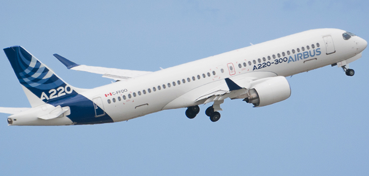 Photo of Airbus A220 aircraft