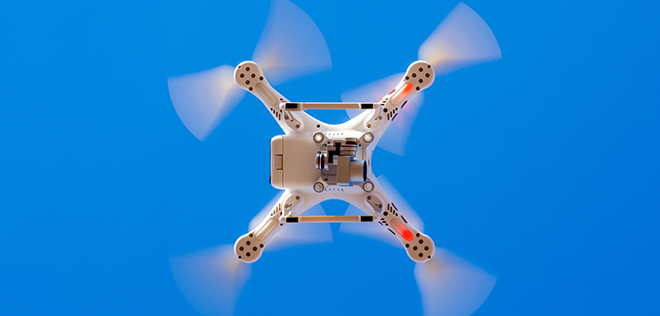 Photo of a civilian drone