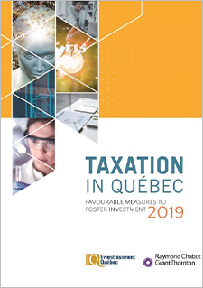 "A title that reads ""Taxation in Québec 2019"""